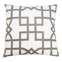 Pillows - Allem Studio Maze Gray Pillow I zinc door - gray and white geometric pillow, gray and white lattice pillow, modern gray and white pillow,