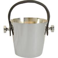 Decor/Accessories - Barneys New York Leather Handle Ice Pail I Barneys.com - silver tone ice bucket, ice bucket with leather handle, leather handled ice bucket,
