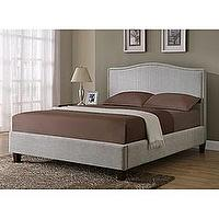 Beds/Headboards - Light Grey Queen-size Bed | Overstock.com - upholstered gray bed, grey twill bed, upholstered gray queen-size bed,