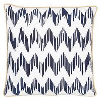 Pillows - Allem Studio Chevron Navy Pillow I zinc door - navy and white zigzag pillow, navy blue and white geometric pillow, navy blue and white zigzag,
