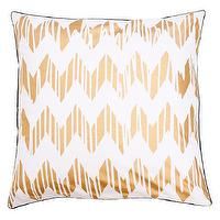 Pillows - Allem Studio Chevron Gold Pillow I zinc door - gold chevron pillow, white and gold chevron pillow, white and gold geometric pillow, white and gold zigzag pillow,