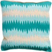 Pillows - John Robshaw Poro Zig-zag Embroided Pillow I Barneys.com - abaca pillow, turquoise zigzag pillow, turquoise abstract zigzag pillow,