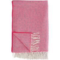 Decor/Accessories - Barneys New York Riviera Throw O Barneys.com - wool throw, pink wool throw, pink herringbone throw, fringed pink wool throw,