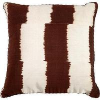 Pillows - Madeline Weinrib Stripe Pillow I Barneys.com - brown and white pillow, brown and white striped pillow, dark brown and white stripe pillow,