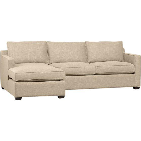 Davis 2 piece sectional sofa in sectional sofas crate for Davis 2 piece sectional sofa