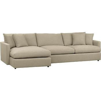 Seating - Lounge 2-Piece Sectional Sofa in Sectional Sofas | Crate and Barrel - lounge sofa, sofa with chaise lounge
