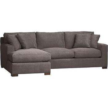 Axis 2-Piece Left Arm Chaise Sectional in Sectional Sofas, Crate and Barrel