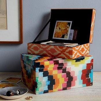 Decor/Accessories - Patterned Jewelry Boxes | west elm - multi-colored jewelry box, patterned jewelry box, multi-colored patterned jewelry box,