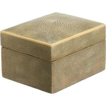 R & Y Augousti Medium Shagreen Box I Barneys.com