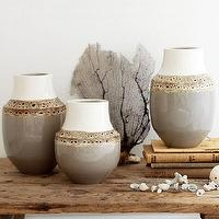 Decor/Accessories - Dune Vases | west elm - earthenware vase, glazed earthenware vase,
