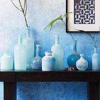 Decor/Accessories - Waterscape Vases | west elm - blue vase, salt blast blue vase, sea glass vase, sea glass blue vase,