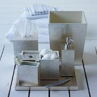 Bath - Lacquer Bath Accessories - Silver | west elm - silver bath accessories, metallic silver bath accessories, silver lacquered bath accessories,