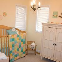 nurseries - Benjamin Moore - Windham Cream - neutral, cream nursery, calming, quilt,  neutral calming baby nursery