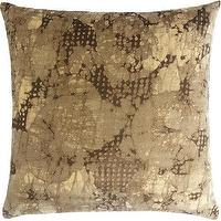 Pillows - Dransfield & Ross Mineral Pillow I Barneys.com - batik pillow, batik velvet pillow, taupe batik pillow,