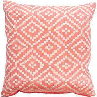 Pillows - John Robshaw Alabat Euro Decorative Pillow I Barneys.com - pink embroidered pillow, salmon pink embroidered pillow, salmon pink abaca pillow,