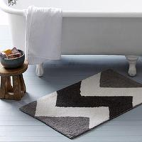 Bath - Sebastian Bath Mat | west elm - gray chevron bath mat, gray chevron bath rug, chevron bath mat,