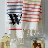 Bath - Belize Stripe Hand Towel | west elm - striped hand towel, striped turkish towel, turkish style hand towel, striped turkish style hand towel,