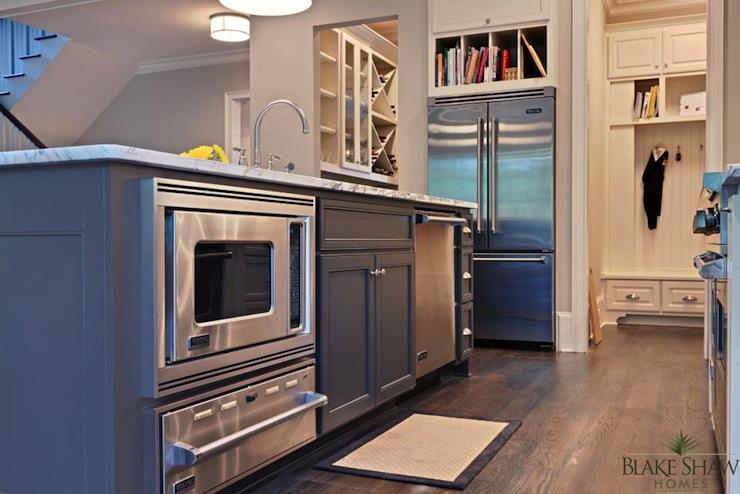 Kitchen Island Warming Drawer Contemporary