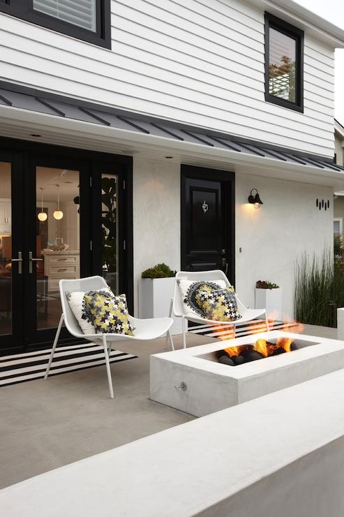 Outdoor Fire Pit Contemporary Porch K Mathiesen