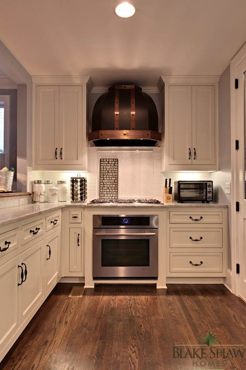 Copper kitchen hood transitional kitchen blake shaw for White copper kitchen