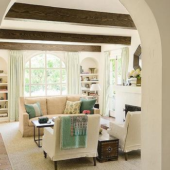 Hex Terracotta Tile Floor, Mediterranean, living room, Christine Markatos Design
