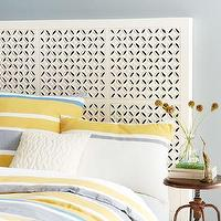 Beds/Headboards - Carved Headboard - White | west elm - carved headboard, carved white headboard, carved moroccan style headboard,