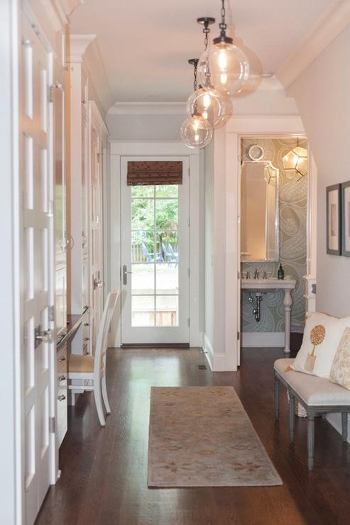 built in cabinets foyer transitional entrance foyer. Black Bedroom Furniture Sets. Home Design Ideas