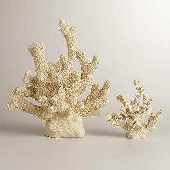 Decor/Accessories - Resin Corals Decor | World Market - resin coral, faux coral, coral, coral decor,