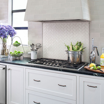 Chevron Backsplash, Contemporary, kitchen, Tamara Mack Design