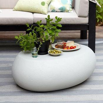 Tables - Pebble Coffee Table | west elm - pebble coffee table, concrete pebble table, carved pebble coffee table,