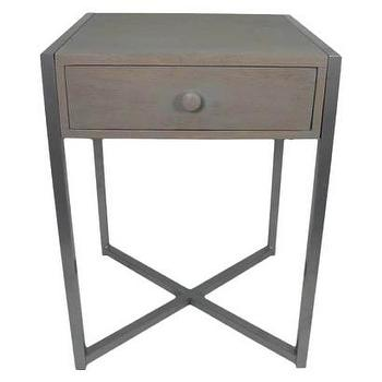 Tables - Threshold Accent Table with Drawer - Gray I Target - iron one drawer accent table, iron single drawer accent table, iron side table with drawer,