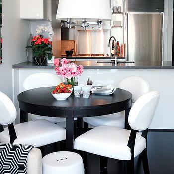 Black and White Dining Room, Contemporary, dining room, Style at Home