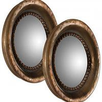 Mirrors - Round Convex Mirror - Set of 2 | HomeDecorators.com - round convex mirror, copper finished convex mirror, convex mirror,