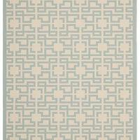 Rugs - Martha Stewart Living Fiji Screen All-Weather Area Rug | HomeDecorators.com - blue and beige geometric rug, blue and beige geometric outdoor rug, geometric outdoor rug,