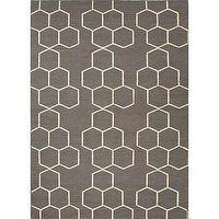 Rugs - Handmade Flat Weave Geometric Gray Wool Rug (9' x 12') | Overstock.com - gray geometric rug, gray and ivory geometric rug, modern dark gray and ivory rug,