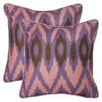 Pillows - 2-Pack Woven Ikat Toss Pillows - Lavender I Target - ikat pillows, purple ikat pillow, purple pink and brown ikat pillow,
