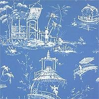 Wallpaper - Thibaut Tea House - Meridian - Wallpaper - Blue - wallpaper, blue, tea house