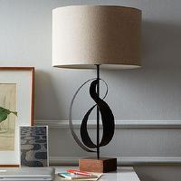Lighting - Sculptural Table Lamp | west elm - sculptural iron lamp, sculptural table lamp, sculptural lamp with drum shade,