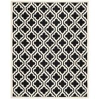 Rugs - Safavieh Cambridge Moroccan Black Wool Rug (9' x 12') | Overstock.com - black and ivory moroccan rug, black and ivory geometric rug, black and ivory moroccan tile rug,