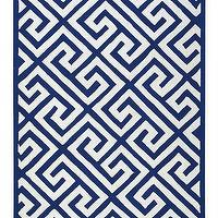 Rugs - Piper Area Rug | HomeDecorators.com - geometric blue and white rug, blue and white greek key rug, greek key rug, navy and white greek key rug,