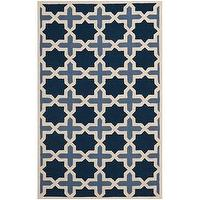 Rugs - Handmade Cambridge Moroccan Light Blue Wool Rug | Overstock.com - blue moroccan rug, blue moroccan style rug, blue moroccan patterned rug,
