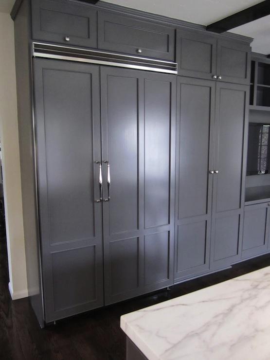 Concealed Refrigerator Contemporary Kitchen Cococozy