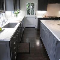Calacatta Ora Marble Countertops Transitional Kitchen