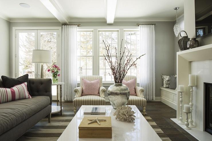 gray tufted sofa contemporary living room benjamin
