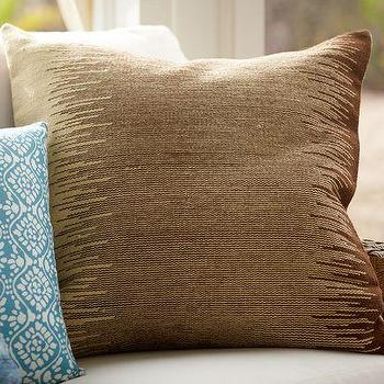 Pillows - Zig-Zag Wool Kilim Pillow Cover | Pottery Barn - kilim pillow, brown kilim pillow, ombre brown kilim pillow, brown ombre pillow,