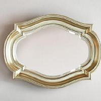 Mirrors - Royce Mirror | Pottery Barn - silver gilt mirror, champagne colored mirror, silver gilt curved mirror,