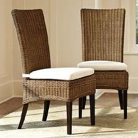 Seating - Jacquelyne Dining Chair | Pottery Barn - rattan dining chair, rattan side chair, woven dining chair,