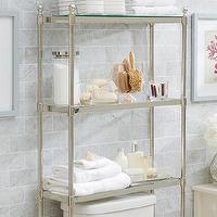 Bath - Metal Over-the-Toilet Etagere | Pottery Barn - over-the-toilet etagere, metal over-the-toilet etagere, metal over-the-toilet shelves,
