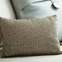 Pillows - Rustic Sparkle Pillow | Pottery Barn - beaded pillow, brown beaded pillow, neutral beaded pillow,