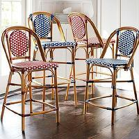 Seating - French Cafe Barstool | Pottery Barn - french cafe barstool, red cafe barstool, blue cafe barstool, red french cafe bar stool, blue french cafe bar stool,